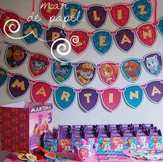 Los 3 años de Martina: la patrulla en rosa, lila y turquesa