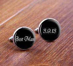 Best Man Silver Mens CUFFLINKS-Groom Cufflinks,Wedding Gift ,Silver Cufflinks