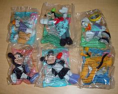 House of Mickey Mouse 2001 Toy Set Disney McDonald's Happy Meal Toys MIP