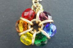 Pendant maded with glass beads and wire. it is easy and cute