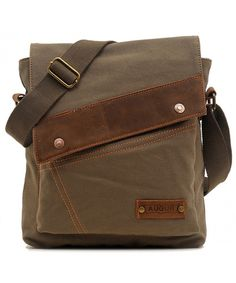 522e26dab903 Messenger Bag Vintage Small Canvas Shoulder Crossbody Purse - Army Green -  C611SCFEUG7  Bags
