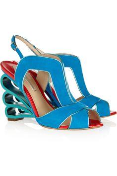 Cutout suede sandals by Nicholas Kirkwood
