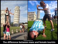 The Leaning Tower of Pisa (Tuscany) is one of Italy's most iconic landmarks, and also one of the strangest sights in the world due to its unique tilt. Fun With Statues, Travel Humor, Funny Travel, Anime Poses, Seriously Funny, People Laughing, Teen Posts, Pisa, Funny Posts