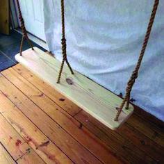Wood Tree Swings Premier Double Swing/ with 12 Foot Ropes. Made of Yellow Pine Wood. Made in USA. Wooden Tree Swing, Wood Swing, Wood Tree, Arbor Swing, Pergola Swing, Pergola Kits, Pergola Ideas, Patio Ideas, Backyard Ideas