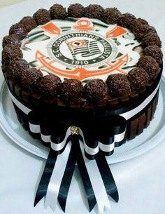 Torta de chocolate, tema Corinthians/L&E Doce Tentação