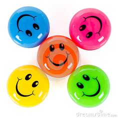 Colourful smileys