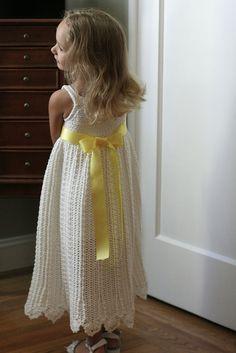 Cali's Flower Girl Dress by Yarn Theory, via Flickr