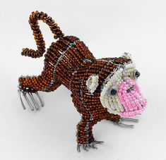 mini beaded monkey - mini beaded animals