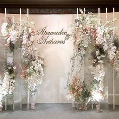 #floraldesign #floralbackdrop #decoration #desigewedding #bangkokflorist #bangkok #thaiwedding #ommee_floral