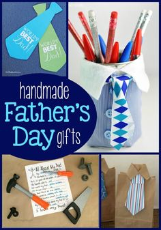 15 kid-friendly craft ideas to give as Father's Day Gifts Handmade Father's Day Gifts, Diy Father's Day Gifts Easy, Father's Day Diy, Fathers Day Art, Fathers Day Presents, Gifts For Dad, Cute Kids Crafts, Preschool Arts And Crafts, Classroom Crafts