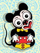 Mickey Mouse in the form of a Maori Tiki New Zealand Art, Tiki Art, Fine Art Paper, Maori Art, Mouse Print, Lowbrow Art, Art, Prints, Nz Art
