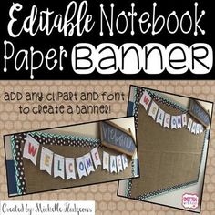 After lots of request to make more notebook banners, I decided to create this EDITABLE BANNER so that you can create your very own banner! This free download includes directions on how to create your own notebook paper banner for your classroom! You will need Powerpoint to use this file!
