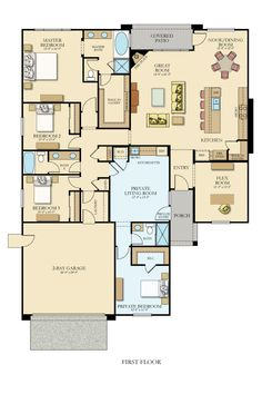 Versatillion - Next Gen New Home Plan in Silver Oaks - Cambridge Collection by Lennar Duplex Floor Plans, Open Floor House Plans, Sims House Plans, New House Plans, Dream House Plans, House Blueprints, Cabin Homes, House Layouts, New Homes For Sale