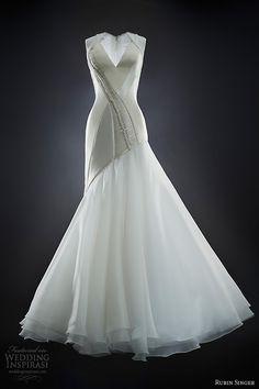 rubin singer 2014 emma sleeveless v neck wedding dress