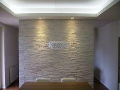 parete in pietra e veletta d\'arredo in cartongesso | furniture ...