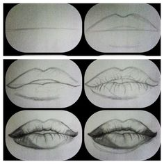 How to draw realistic lips