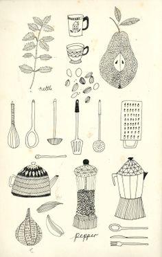 Food Illustrations. - Katt Frank Illustration.