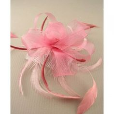 £9.99 Pink Looped Net Ribbon Internet Advertising, Wedding Fascinators, Pink Shoes, Hair Clips, Feather, Ribbon, Hair Rods, Tape, Quill