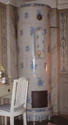 A Swedish tile stove.