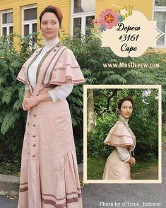 1900s Short Bolero Cape #3161 (1907)   Mrs Depew Vintage Lady, Dress Patterns, Saree, Vintage, Sewing, Gallery, Blouse, Dresses, Fashion
