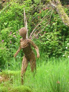 wicker fairy at the Mythic Garden in Devon @socialwicker approved #wicker