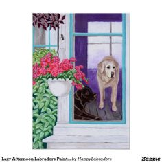 Lazy Afternoon Labradors Painting Posters