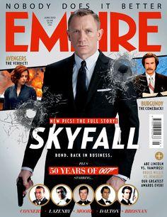 Empire Magazine - June 2012 New 007 James Bond (Daniel Craig) - Skyfall Daniel Craig Skyfall, Daniel Craig James Bond, Craig 007, List Of Magazines, Daniel Graig, Empire, Best Bond, Actor James, Judi Dench