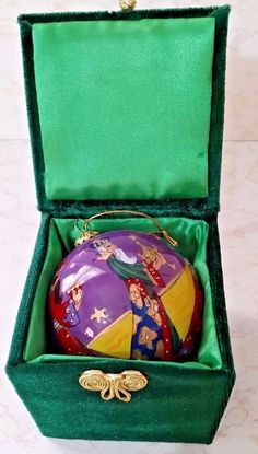 "3 Kings Ornament In Green Velvet Box - 2 1/2"" Christmas Ornament"