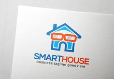 Smart House Logo Templates Smart House logo is a house with an eyeglass as a sign for a smart one. Suited for house automation by Slim Studio Business Brochure, Business Card Logo, Logo Smart, Text Fonts, Logo Templates, Design Templates, Script Type, Home Logo, Creative Sketches