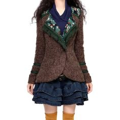 $105.72 cool Artka Women's Slim Tassels Fall Woolen Cardigan Coat