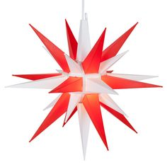 Red and White LED Moravian Star - pair with blue and white for July 4th!