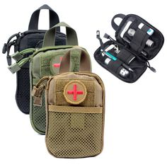 Fast Shipping Molle Tactical Medical First Aid EDC Pouch Gear Waist bag Pocket Organizer EMT W/Belt Loop Survival Free shipping
