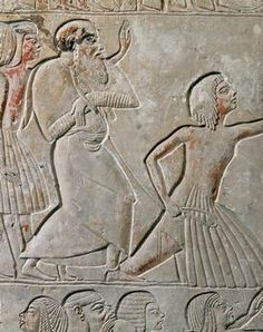 Bas-relief from the tomb of Horemheb, viceroy of Akhenaton.