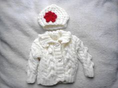 hand knitted Irish baby girl Aran cardigan & hat 03 by crochetfifi Irish Baby, Baby Makes, Hand Knitting, All Things, Buy And Sell, Hats, How To Make, Handmade, Stuff To Buy