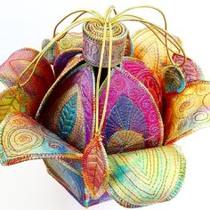Textile Treasure Flower Pod by Sue Trevor