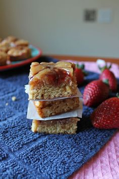 Cookie Butter and Jelly Blondies