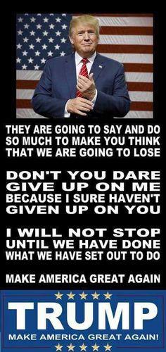 Don't believe the haters! #WISCONSINFORTRUMP