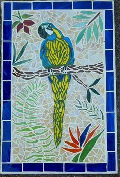 Parrot mosaic wall art by ColleenGail on Etsy, $95.00