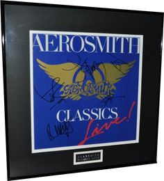 Aerosmith – Classics Live I - Hand signed by: Steven Tyler – Joe Perry – Tom Hamilton – Brad Whitford – Joey Kramer. #aerosmith #musiccollectibles See the Collection: http://www.rockstargallery.net/framed-signed-albums
