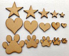 C3 100mm Hearts MDF Scrapbook Wholesale Embellishment Laser Cut Craft Shapes