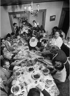 size: Photographic Print: Festive Spread Through Dining Room at La Falce Family Reunion by Ralph Morse : Artists Vintage Photographs, Vintage Photos, La Trattoria, Italian People, Italian Lifestyle, Sunday Recipes, Vintage Italy, Vintage Farm, Joke Of The Day