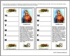 mother s day bookmark more mothers mary catholic crafts blessed ...