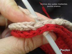 Doble suela.. a crochet para patucos. paso a paso