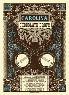 Image of Carolina Chocolate Drops - Tour poster