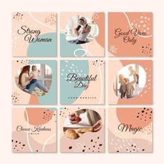 Instagram Feed Ideas Posts, Instagram Feed Layout, Instagram Square, Feeds Instagram, Instagram Grid, Creative Instagram Photo Ideas, Story Instagram, Instagram Post Template, Instagram Design