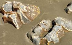 Moeraki Boulders near Oamaru New Zealand Calcit Structure