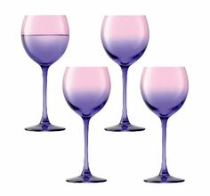 On behalf of every mezzo-soprano, I love that these are called Mezzo Wine Glasses. Also - pink and purple wine glasses!