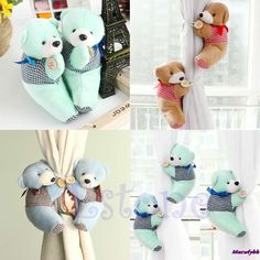1 Pair Baby Kid Cartoon Bear Holder Nursery Bedroom Curtain Tieback Buckle Hook 3Colors Free Shipping-in Blinds, Shades & Shutters from Home & Garden on Aliexpress.com | Alibaba Group
