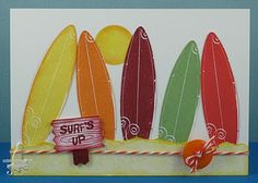Cat's Ink.Corporated: The Lollipop Ladies Colour Challenge #11 Hey Jube! - Summer Surfin!
