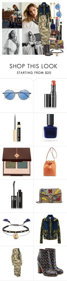 """""""I am a student being taught by the pile of stars that never had a chance"""" by brownish ❤ liked on Polyvore featuring Thom Browne, Chantecaille, Yves Saint Laurent, RGB Cosmetics, Charlotte Tilbury, Magdalena Frackowiak, Mansur Gavriel, Sisley, Gucci and IaM by Ileana Makri"""